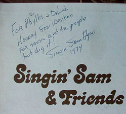 Singin' Sam & Friends - (Autographed LP)