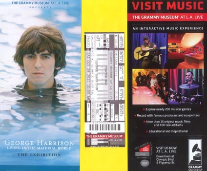 Grammy Museum - Ticket stub, flyers