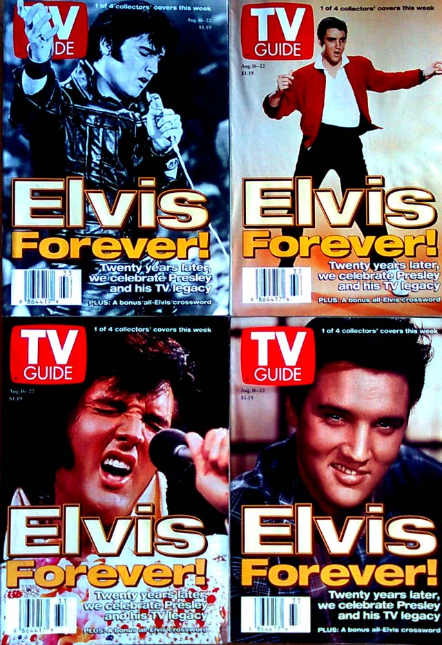 TV Guide - (4) Elvis issues