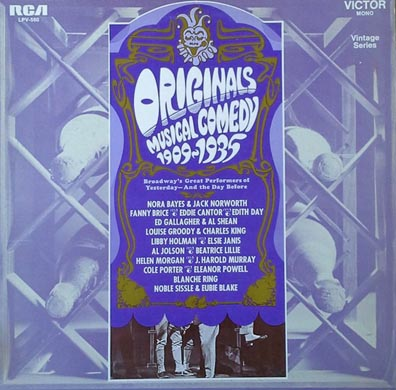 Originals Musical Comedy 1909 - 1935